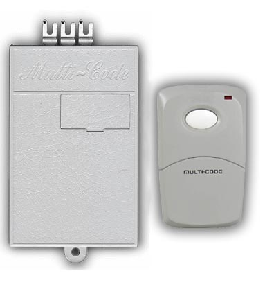 Multicode Gate Or Garage Door Opener Receiver And Remote